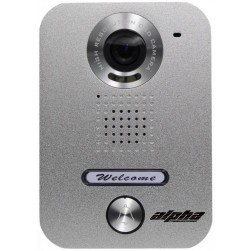Alpha VR237S 1-Button Video Door Station - Silver