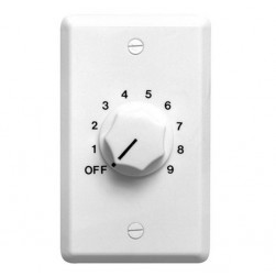 Speco WAT10W 10W 70/25 Volt Wall Plate Volume Control, White