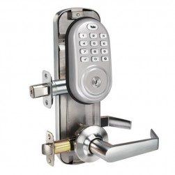 Yale YRC216ZW2NW5619 Assure Lock Interconnected Lockset with Push Button, Satin Nickel