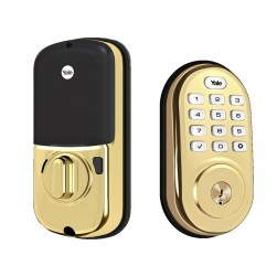 Yale YRD416-NR-605 Push Button Deadbolt with Bluetooth