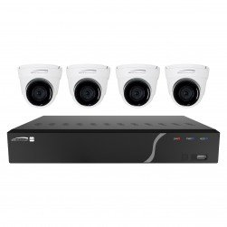 Speco ZIPK4T2 4 Channel Network Video Recorder with Four 5 Megapixel IP Cameras, 1TB