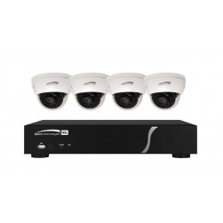 Speco ZIPL4D1 4Ch NVR Dome Camera System, 1TB