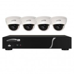 Speco ZIPL84D2 8 Channel NVR with 2TB and 4 Full HD 1080p Outdoor IR Dome Cameras