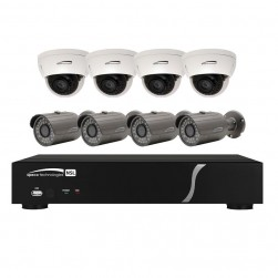 Speco ZIPL8BD2 8Ch NVR System w/(4) Bullet and (4) Dome Cameras, 2TB