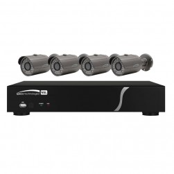 Speco ZIPL84B2 8 Channel NVR with 2TB and 4 Full HD 1080p Outdoor IR Bullet Cameras
