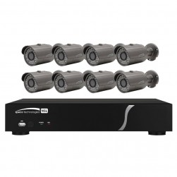 Speco ZIPL88B2 8 Channel NVR with 2TB and 8 Full HD 1080p Outdoor IR Bullet Cameras