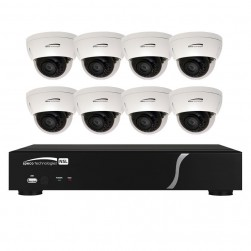 Speco ZIPL88D2 8 Channel NVR with 2TB and 8 Full HD 1080p Outdoor IR Dome Cameras