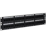 ICC ICMPP48CP5 48-Port Cat 5e Feed-thru Patch Panel, 2 RMS