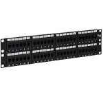 ICC ICMPP48CP6 48-Port Feed-thru Cat 6 Patch Panel, 2 RMS