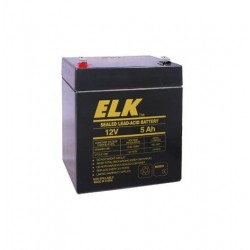 Elk ELK-1250 Sealed Lead Acid Battery, 12 Volts, 5 Ah