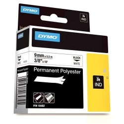 "Dymo 18482 RHINO 3/8"" (9mm) White Permanent Poly Labels"