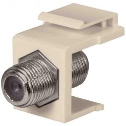 DataComm 20-3102-LA Keystone Jack with 1 GHZ F-Connector, Lite Almond, UL