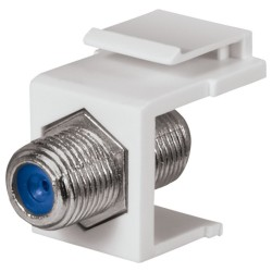 DataComm 20-3202-WH 2.4 GHz F-Connector Keystone Insert, White, UL
