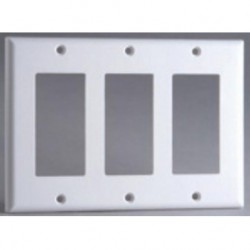 DataComm 20-5132 Decor Wall Plate, 3-Gang, White