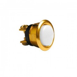 "Alpha 205-B 5/8"" Round Pushbutton - Brass"