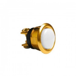 "Alpha 205L-B 5/8"" Round Pushbutton - Brass"