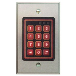 Alpha AL-212W Weather-Resistant Keypad Station Flush Mount