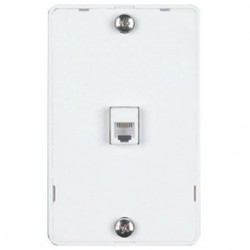 DataComm 22-0112 Color-Rite Phone Plate Quick Mount - White UL