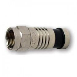 Platinum Tools 28006J F-Type RG6 Nickel SealSmart Coaxial Compression Connector. 75pc.Jar.