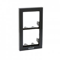 Comelit 3311/2A Module-holder frame complete with cornice for 2 module- Anthracite colour