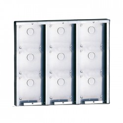 Comelit 3316/9 Stainless steel surface-mounting box for 9 modules