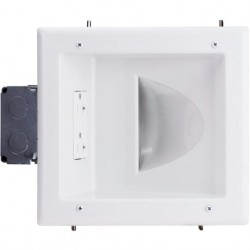 DataComm 45-0032-WH Recessed Low Voltage Media Plate - White