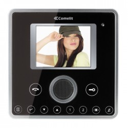 Comelit 6101BBM Black Planux Hands-Free/Induction Loop Color Monitor