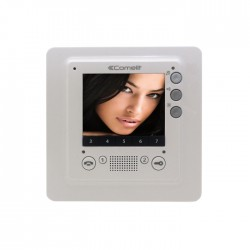 Comelit 6302 Smart Series Color Hands Free Monitor, White