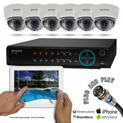 Samsung 6CSDN500 6 Indoor Nightvision Dome Security Camera System w/ 500GB DVR