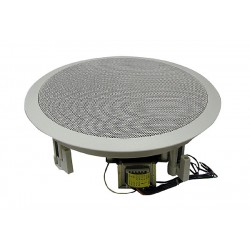 "MG Electronics 810CXBT/WG 8"" Coaxial Speaker 70/25 Volt Transformer White High Style Grill"