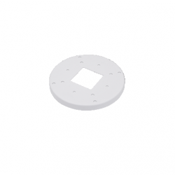 "Vivotek AM-514_V01 Adapter Plate for 4"" Electrical & Single Gang Box"
