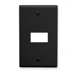 ICC IC107F01BK 1-Gang Flat Faceplate, Black
