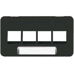 ICC IC107FT4BK 4-Port TIA Furniture Faceplate Black