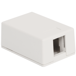 ICC IC107SB1WH 1-Port Surface Mount Box - White