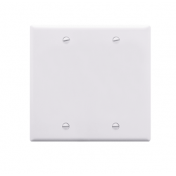 ICC IC630EBDWH 2-Gang Blank Faceplate, White