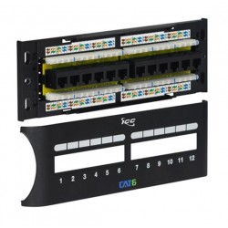 ICC ICMPP12F6E 12-Port CAT 6 Front Access Patch Panel