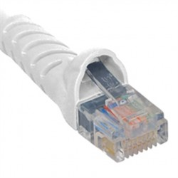 ICC ICPCSJ05WH Molded Boot Patch Cord, White, 5 Ft.