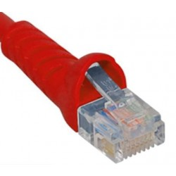 ICC ICPCSJ25RD Molded Boot Patch Cord, Red, 25 Ft.
