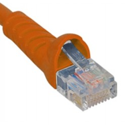ICC ICPCSK01OR Cat 6 Patch Cord, Orange, 1 Ft.
