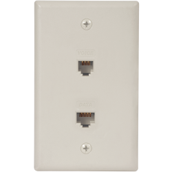 ICC ICRDSV05WH Voice & Data Integrated Faceplate