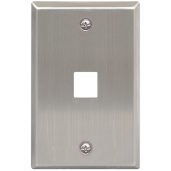 ICC IC107SF1SS 1-Port 1-Gang Stainless Steel Flat Faceplate