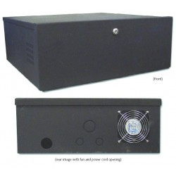 Speco LB1 16-Gauge Steel DVR Lock Box with Fan