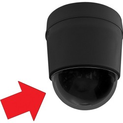 Pelco LD53SMB-0 Lower Dome Surface Mount Black - Smoked Dome