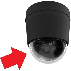 Pelco LD53SMB-1 Lower Dome Surface Mount Black - Clear Dome