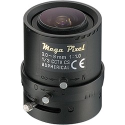 Tamron M13VM308 1/3-inch 3-8mm F1.0 Aspherical Megapixel Compatible Vari-Focal Lens w/Connector