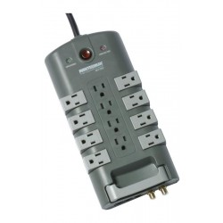 Minuteman MMS7120RCT 12-Outlet/8-Rotating Outlet Surge Suppressor with Coax and Phone Line Protection