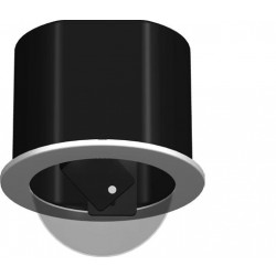 Videolarm MR5T 5-inch Recessed Ceiling mt dome hsg, tinted, fixed bracket, decorative trim ring, includes liner