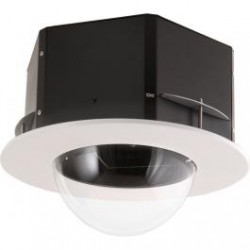 Videolarm MR7CL 7-inch Recessed Ceiling mount dome hsg, clear, fixed bracket, decorative trim ring, includes liner