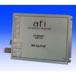 AFI MX-6p-FX-PoE Mini 6-Port Ethernet Switch with PoE & FX SFP Ports