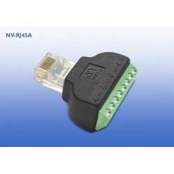 NVT NV-RJ45A RJ45/Screw Terminal Block Adapter